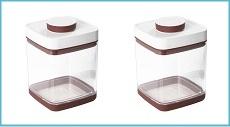 真空保存容器セビア2.4L_ペットフード保存に大人気の2個セット