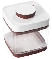 真空保存容器セビア1.5L_ドライフード約600グラム保存可能